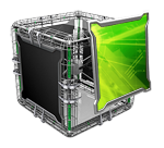 Small Green Cube